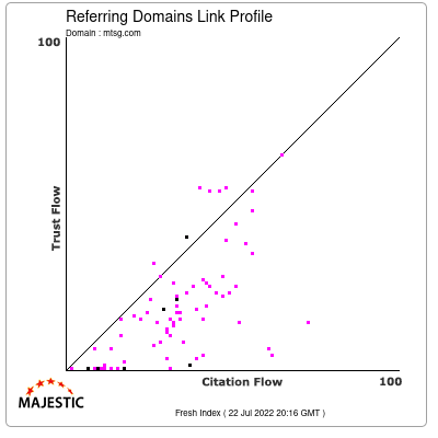 Referring Domains Link Profile of mtsg.com