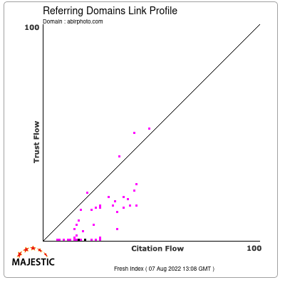 Referring Domains Link Profile of abirphoto.com