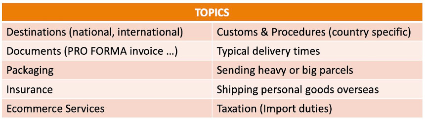Topics for SEO Link Building for an express courier
